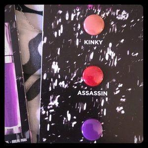 New Urban Decay sample lip gloss trio